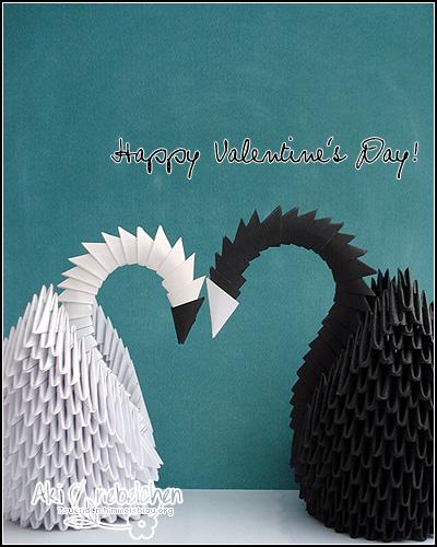 happy valentine! Modular Origami Swans | fraeulein-nebel.org
