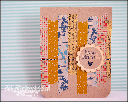 "Karte ""happy birthday"", mit SU! & Washi Tape 