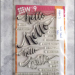 Wplus9: handlettered hello