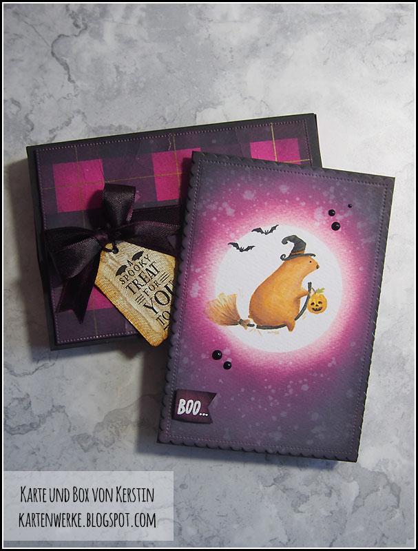 Happy Insta Girls: HalloweenHop, Karte und Box von Kerstin - kartenwerke.blogspot.com