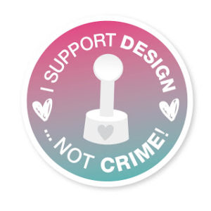 Logo: I support Design, not Crime!