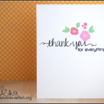 "[Werkeltisch] #74 ""thank you"" One Layer Card"