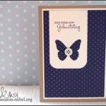 [Werkeltisch] #76 – Geburtstagskarte Butterfliegen