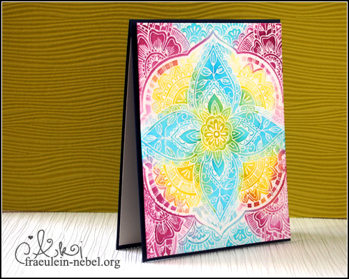 "Karte mit Iron-Off Embossing ""Indian Summer"", mit SU! & HeroArts 