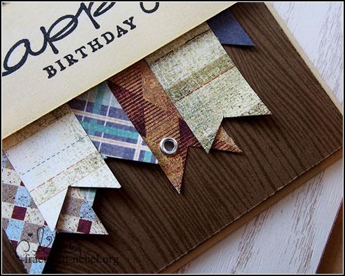"Karte ""happy birthday"" mit Basic Grey & Stampin' Up! | fraeulein-nebel.org"