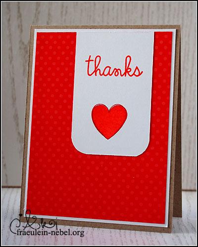 """Karte """"thanks"""", mit SU! & Paper Smooches   © fraeulein-nebel.org"""