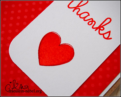 "Karte ""thanks"", mit SU! & Paper Smooches 