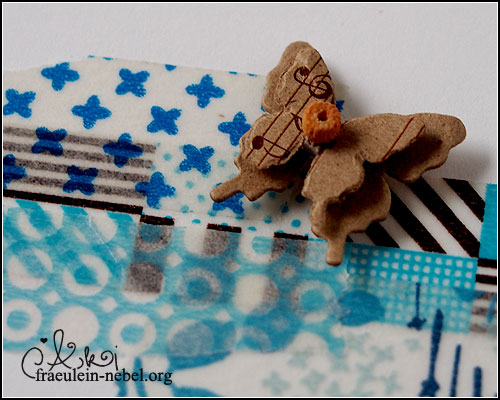 "Karte ""butterfly"", mit Washi Tape & Kelly Fanacci | © fraeulein-nebel.org"