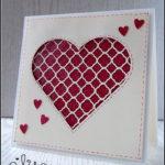 """[Werkeltisch] #94 – Hochzeitskarte """"hearts"""""""