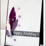 """[Werkeltisch] #95 – Geburtstagskarte """"feather"""""""