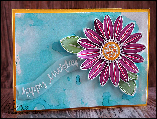 "Karte ""happy birthday"" mit Ranger und Create a Smile 