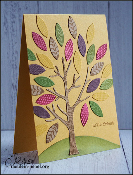 "Karte ""mighty oak: hello friend; mit PapertreyInk und Stampin' Up! 