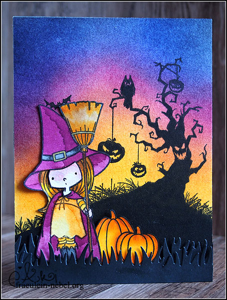 "Karte ""belated halloween"" mit MyFavorite Things und Ranger 