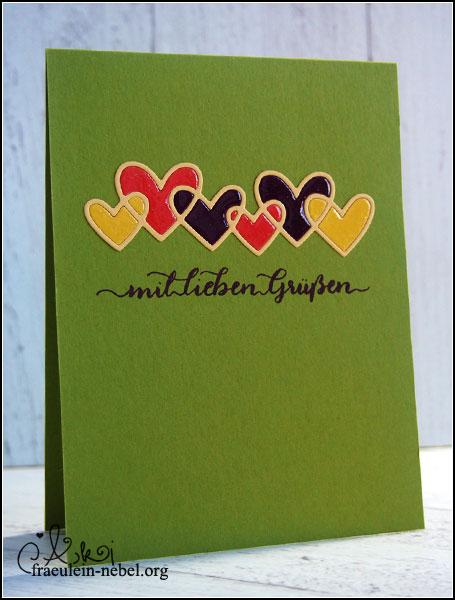 handgemachte Grußkarte mit Paper Smooches und Stampin' Up! | fraeulein-nebel.org