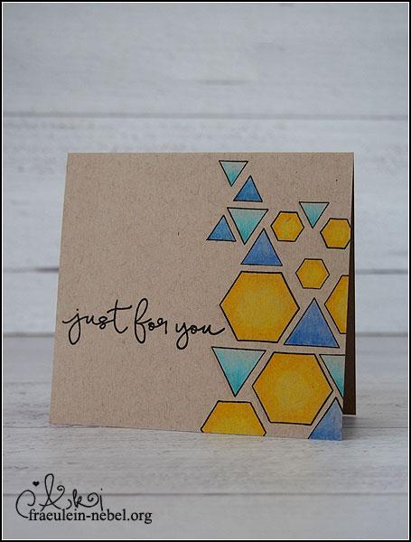 "Karte ""just for you"" mit Simon Says Stamp und Faber-Castell   fraeulein-nebel.org"