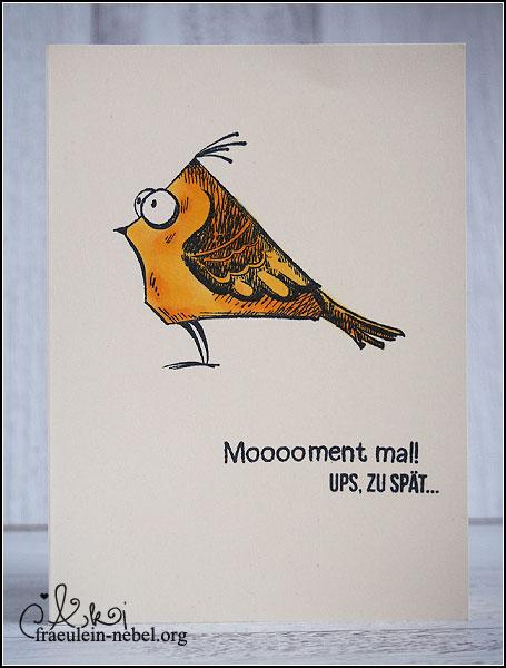 handgemachte Geburtstagskarte für vergessenen Geburtstag mit Copic Marker und Tim Holtz | fraeulein-nebel.org