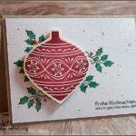"""[Werkeltisch] #158 – Karte """"Frohe Weihnachten"""""""