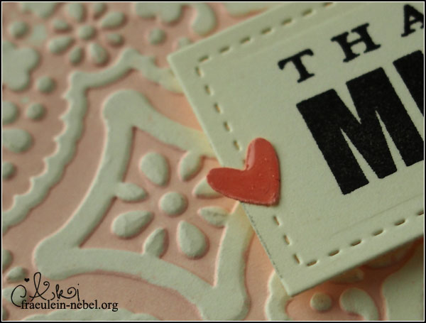 "Karte ""thanks a million"" mit SU! und Lifestyle Crafts 