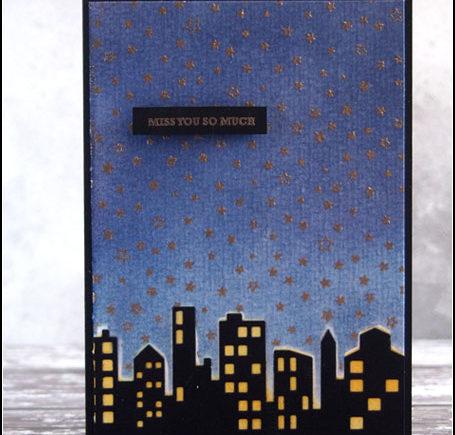"""Karte """"miss you so much"""" mit Distress Ink und Memory Box   fraeulein-nebel.org"""