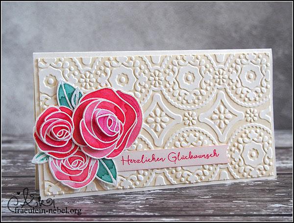 handgemachte Grußkarte - Hochzeitskarte mit Simon Says Stamp und Ranger | fraeulein-nebel.org