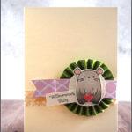 """[Werkeltisch] #167 – Babykarte mit Mama Elephant """"page huggers"""""""
