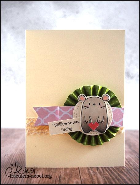 "Babykarte mit Mama Elephant ""page huggers""""Willkommen, baby"" Mama Elephant und Stampin'Up! | fraeulein-nebel.org"
