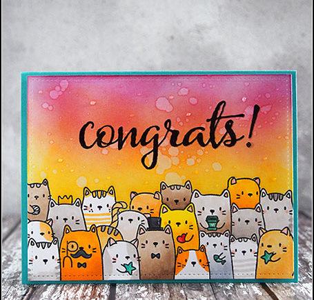 """Geburtstagskarte """"congrats"""" mit Mama Elephant und Winnie&Walter   fraeulein-nebel.org"""