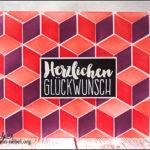 """[Werkeltisch] #174 – Geburtstagskarte """"cubes"""" mit dem Cube Builder Stencil"""