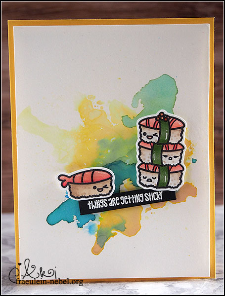 """handgemachte Grußkarte """"things are getting sticky"""" mit Sweet Stamp Shop & Ranger   fraeulein-nebel.org"""