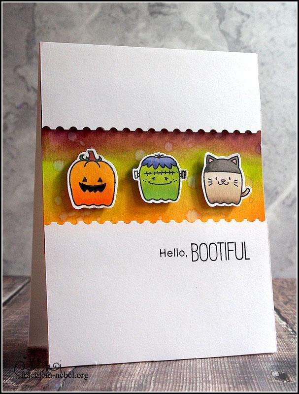 """handgemachte Grußkarte zu Halloween """"hey bootiful"""" mit My Favorite Things"""