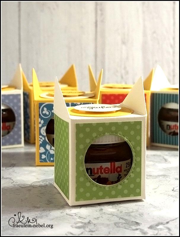 Schokoladenverpackung: Verpackung für Mini-Nutella | fraeulein-nebel.org