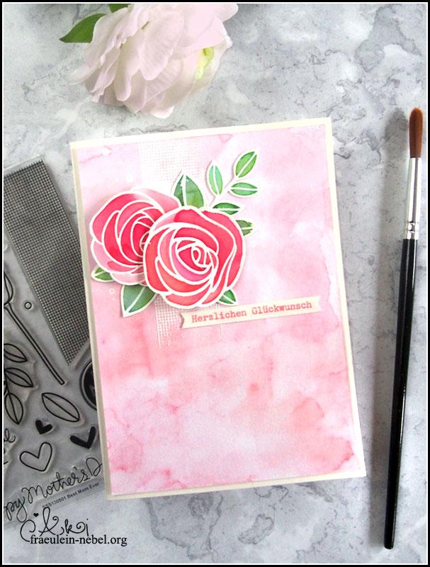 handgemachte Glückwunschkarte zur Hochzeit mit Ranger und Simon Says Stamp | fraeulein-nebel.org