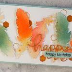 """[Werkeltisch] Geburtstagskarte """"birthday feathers"""""""