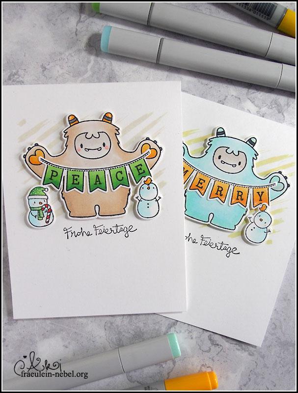 Weihnachtskarte mit Mama Elephant
