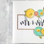 """[Werkeltisch] Hochzeitskarte mit """"scribble flowers"""""""